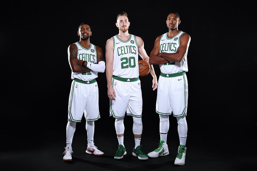 Al Horford, Kyrie Irving, and Gordon Hayward Photograph by Brian Babineau