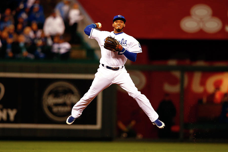 Alcides Escobar Photograph by Jamie Squire