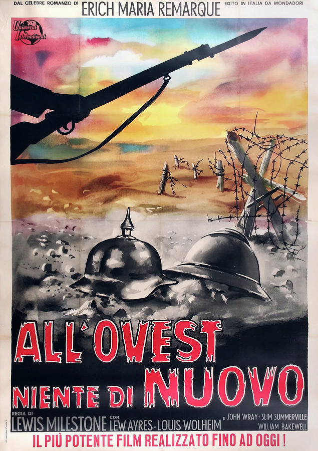 all Quiet On The Western Front Poster 1930 Mixed Media