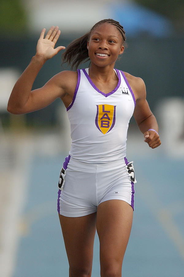 Allyson Felix, National 200-Meter High School Record-Holder Photograph by Kirby Lee
