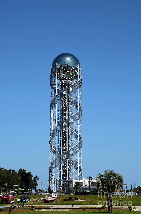 Alphabet Tower Dna Helix Like Structure Batumi Georgia Photograph