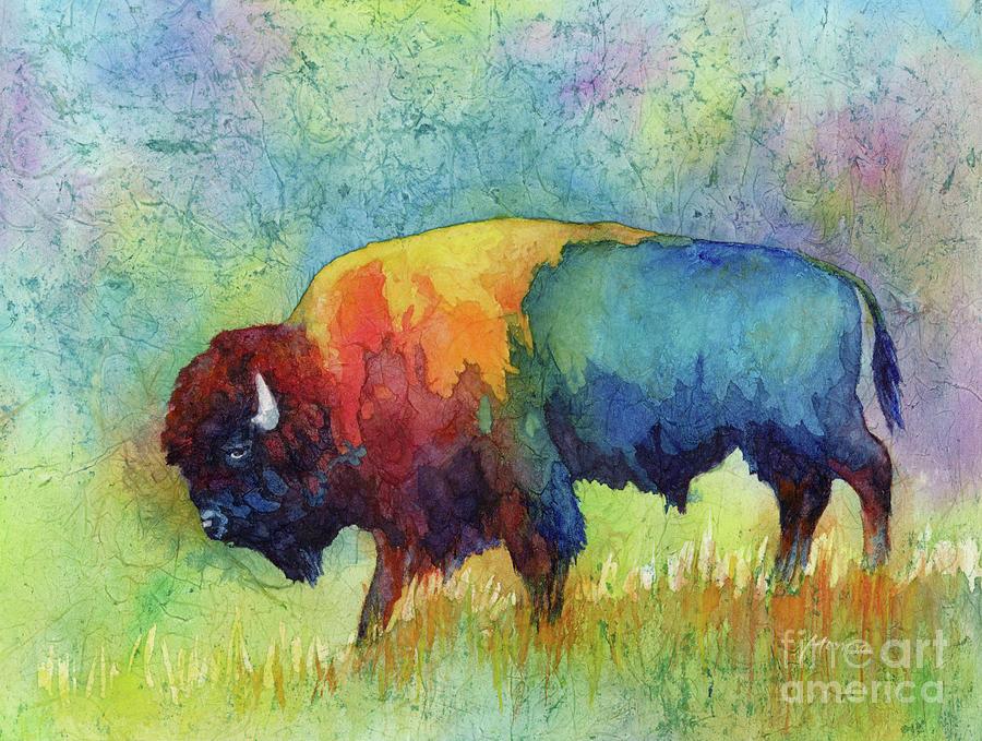 American Buffalo IIi-pastel Colors Painting