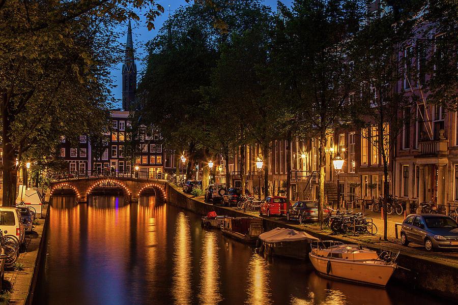 Amsterdam At Twilight Photograph