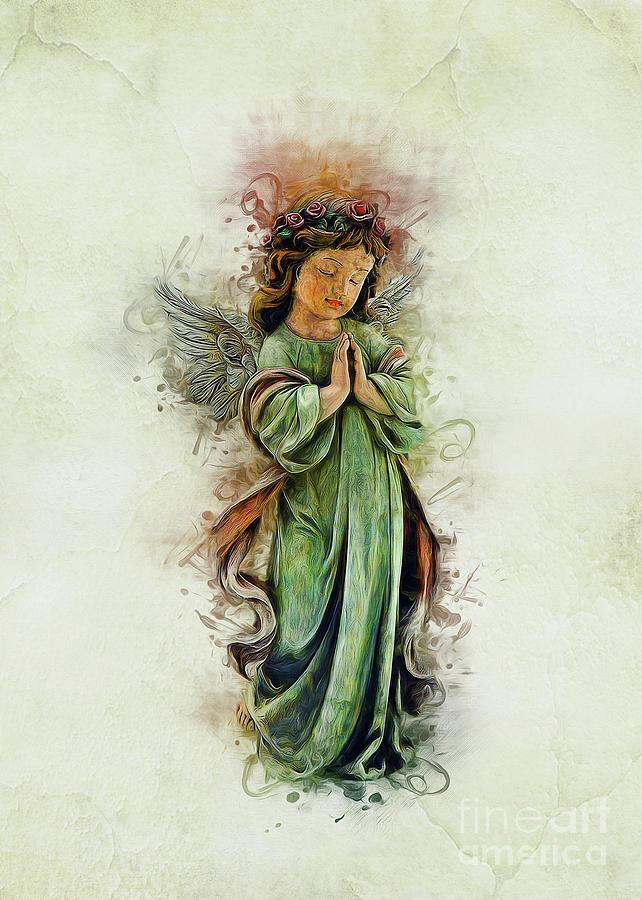 Love Digital Art - An Angels Love by Ian Mitchell