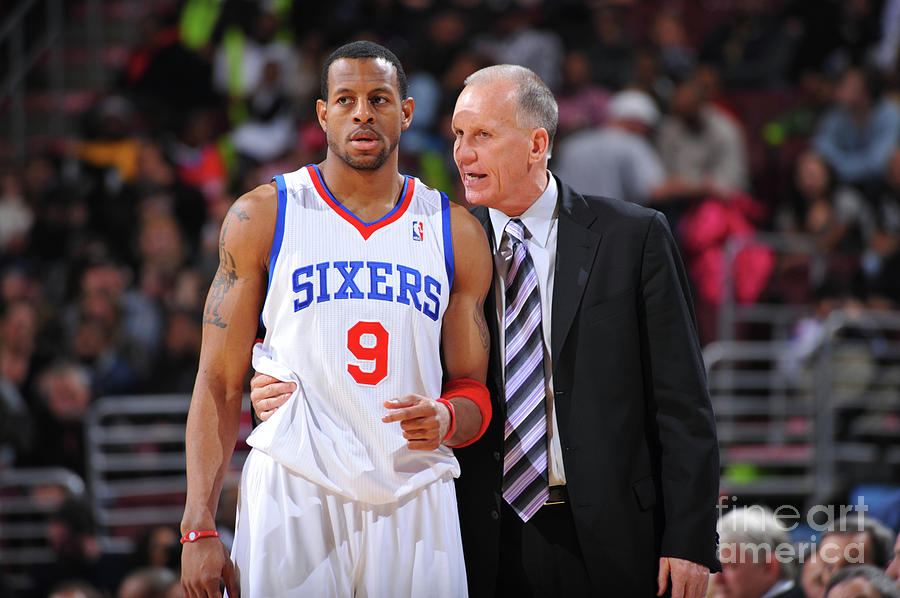 Andre Iguodala and Doug Collins Photograph by Jesse D. Garrabrant