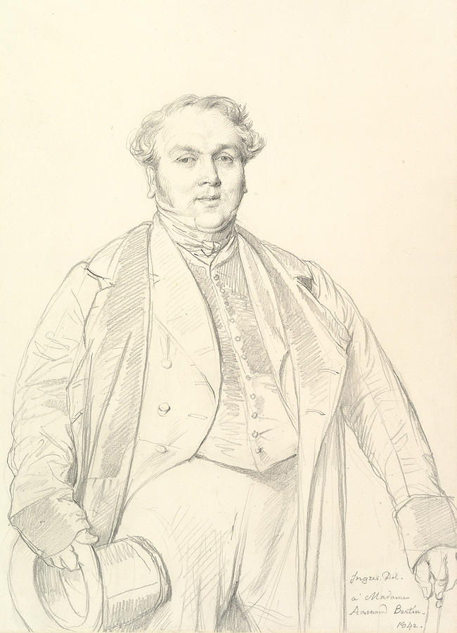 Armand Bertin by Jean-Auguste-Dominique Ingres
