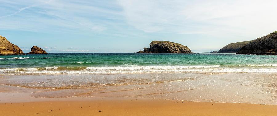 Arnia Beach In Cantabria On A Clear Day Photograph