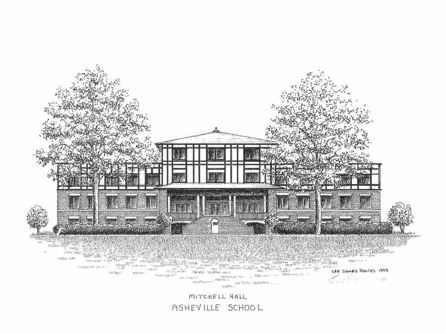Asheville School Drawing by Lee Pantas