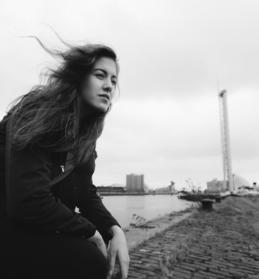 Attractive Young Woman At Derelict Glasgow Docks Photograph by Theasis
