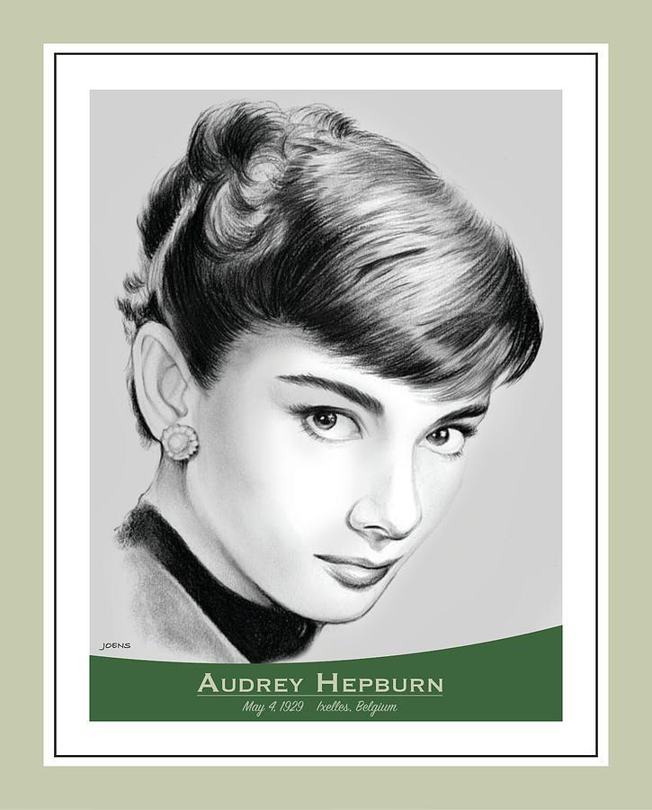 Audrey Hepburn Drawing - Audrey Hepburn by Greg Joens