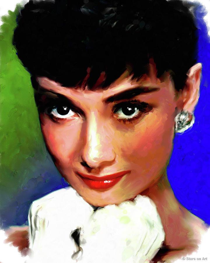 Audrey Hepburn by Stars on Art