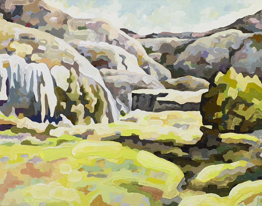 Makoshika State Park Painting - Badlands #9 by Dale Beckman