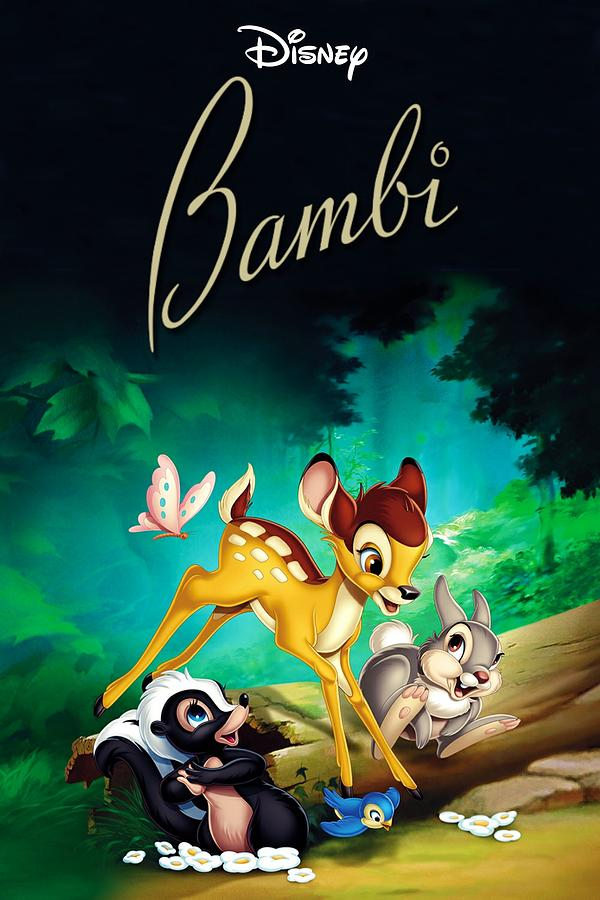 Bambi 1942 Digital Art By Geek N Rock