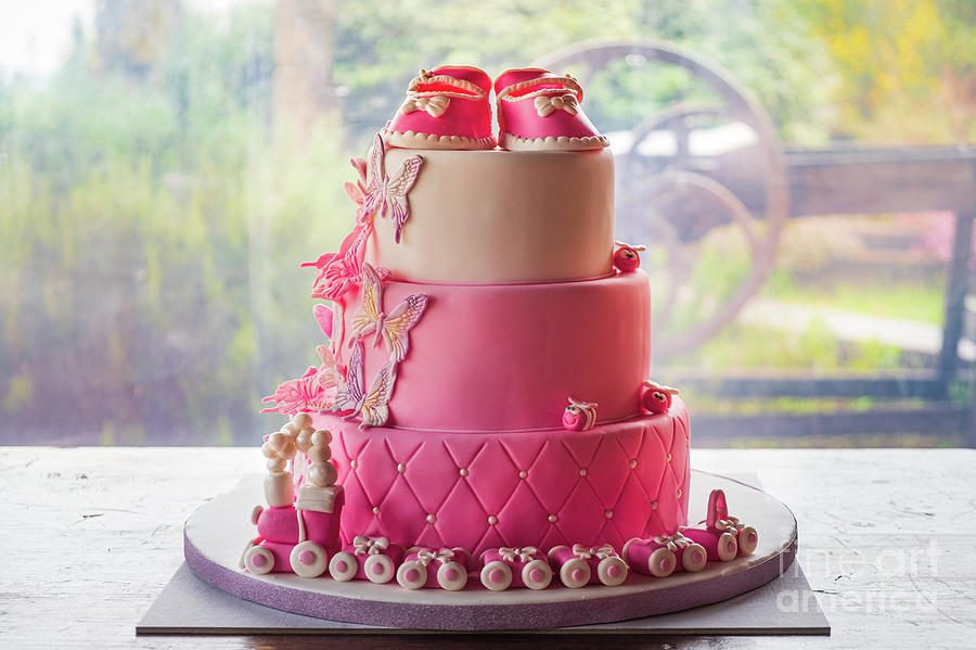 baptism daughter baby girl communion party pink cake event by Luca Lorenzelli