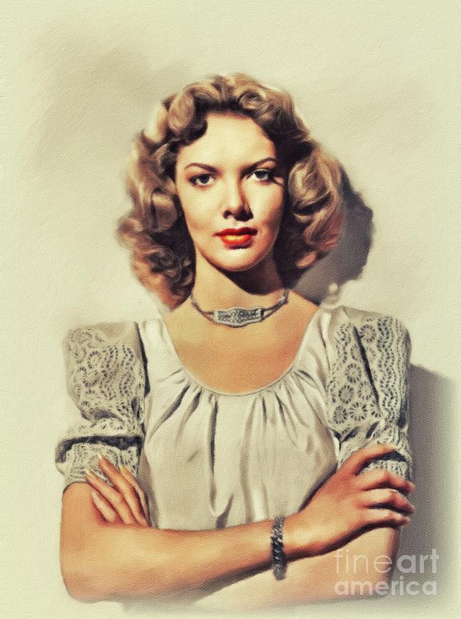 Barbara Lawrence, Vintage Actress Painting