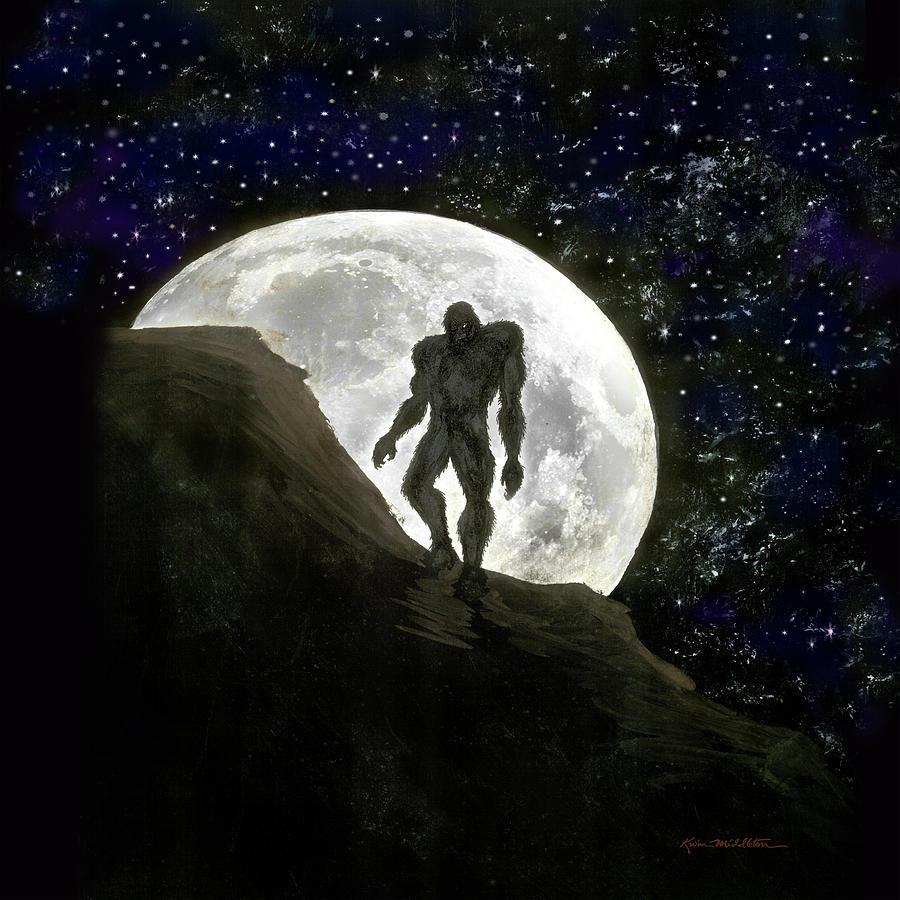 Beast At Full Moon Digital Art