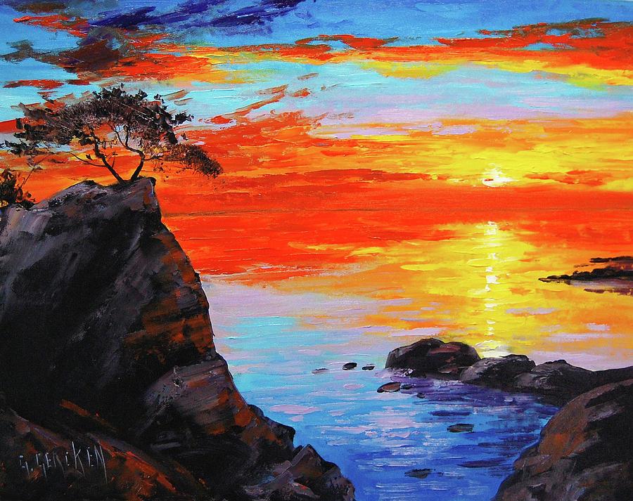 Big Sur Sunset Painting