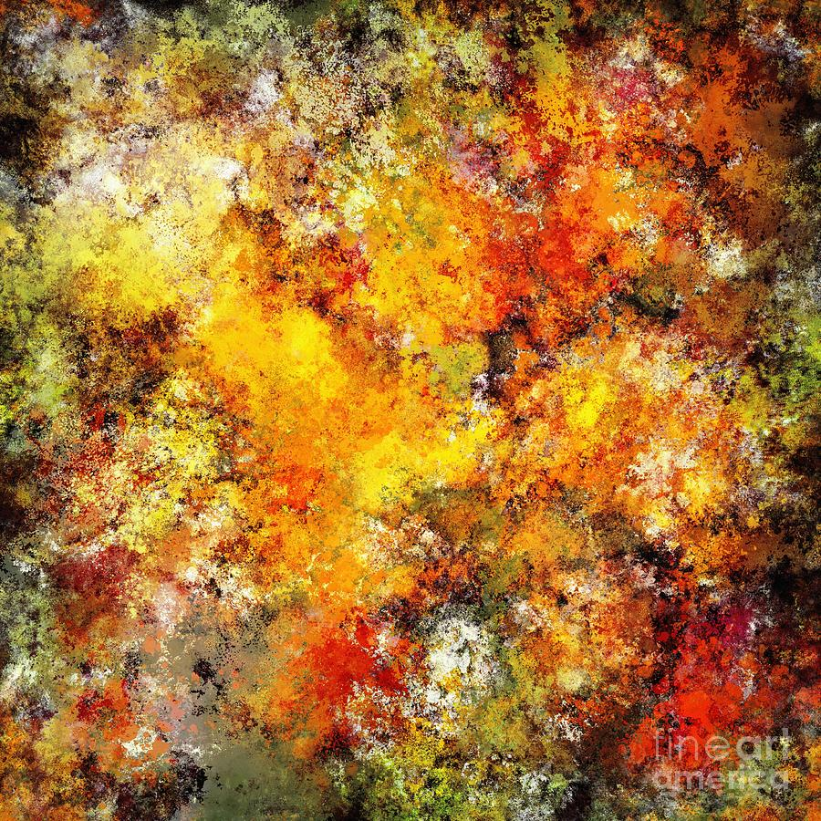 Red Digital Art - Blistering by Keith Mills