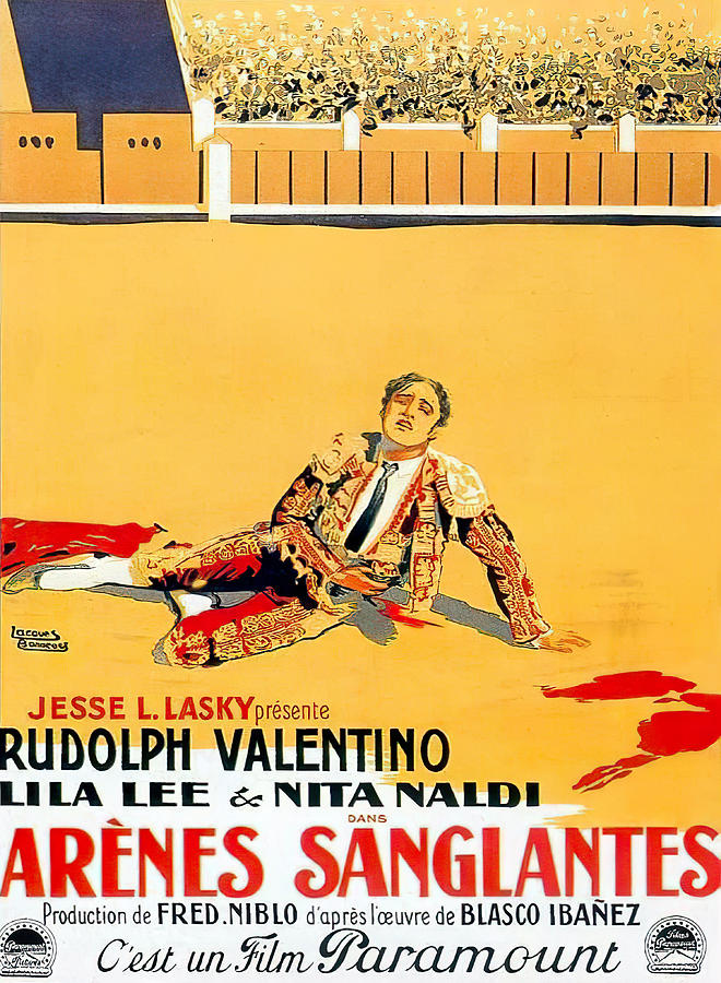 blood And Sand, With Rudolph Valentino, 1922 Mixed Media