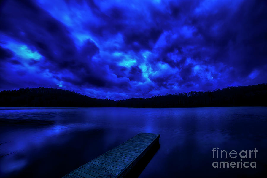 Blue Hour at the Lake by Thomas R Fletcher