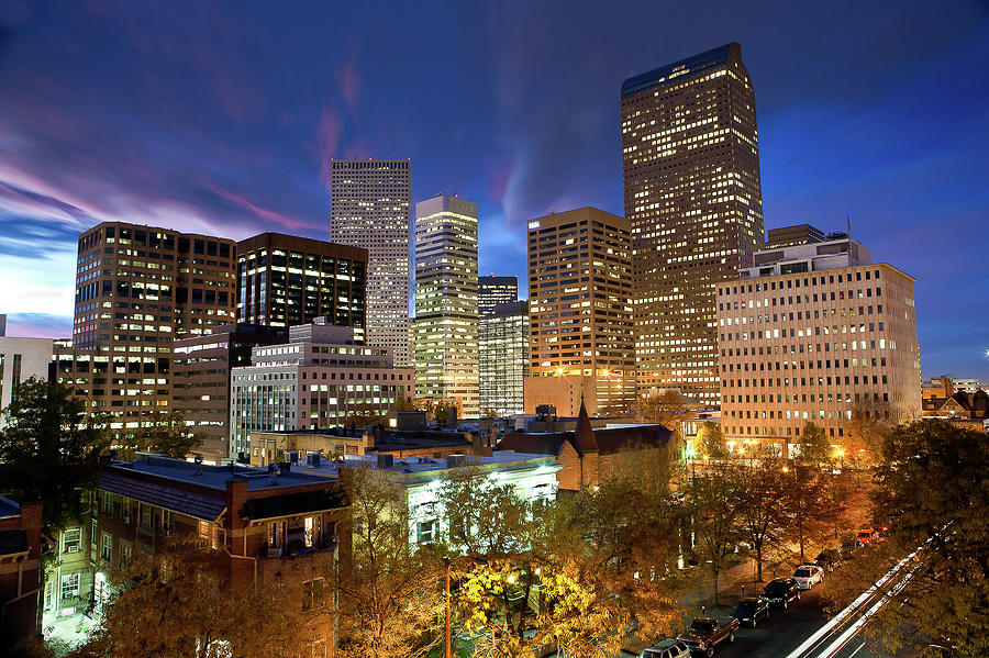Blue Hour Over The Mile High City Photograph