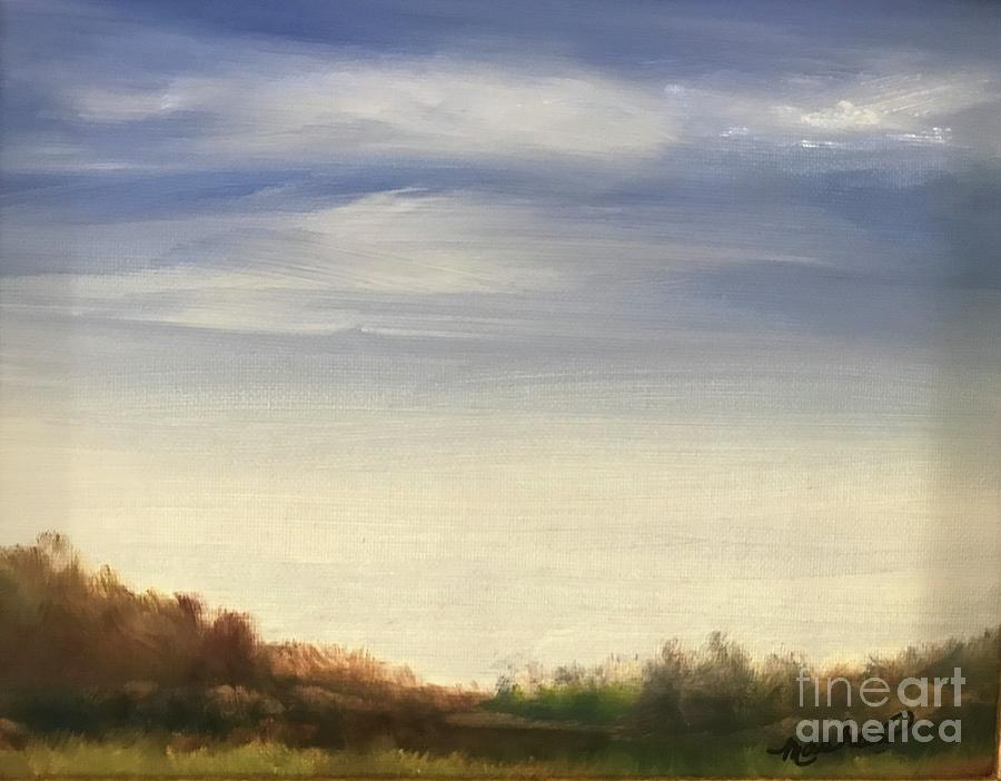 Blue Sky Painting by Sheila Mashaw