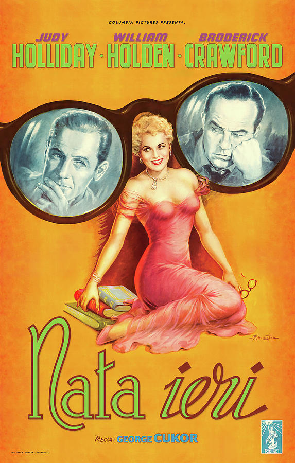 born Yesterday, With Judy Holliday And William Holden, 1950 Mixed Media
