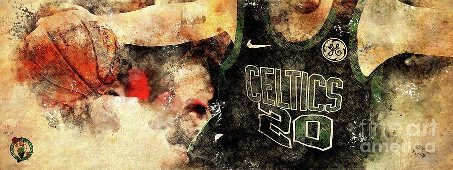 Boston Celtics Basketball Player,sports Posters Drawing