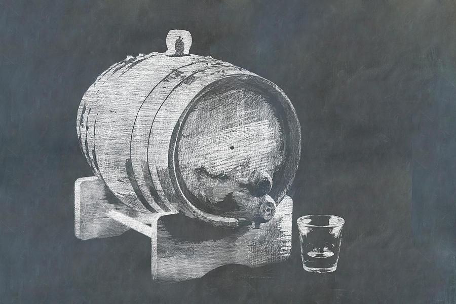 Bourbon Or Whiskey Barrel Photograph