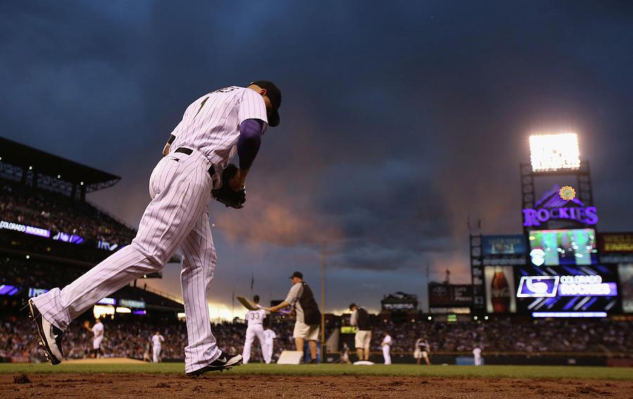 Brandon League Photograph by Doug Pensinger