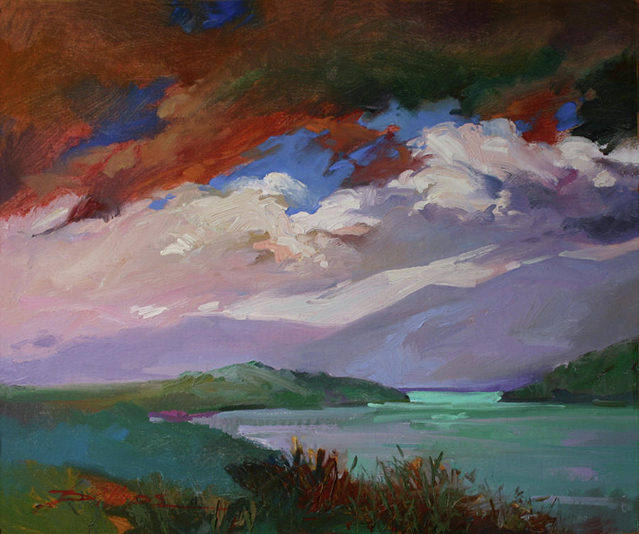 Stormy Weather Painting - Break in the Storm by Betty Jean Billups