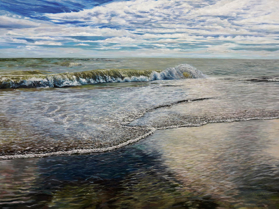 Lake Michigan Painting - Breakthrough by Morgan Adams