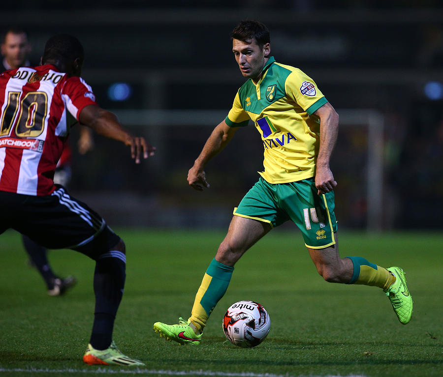 Brentford v Norwich City - Sky Bet Championship Photograph by Charlie Crowhurst