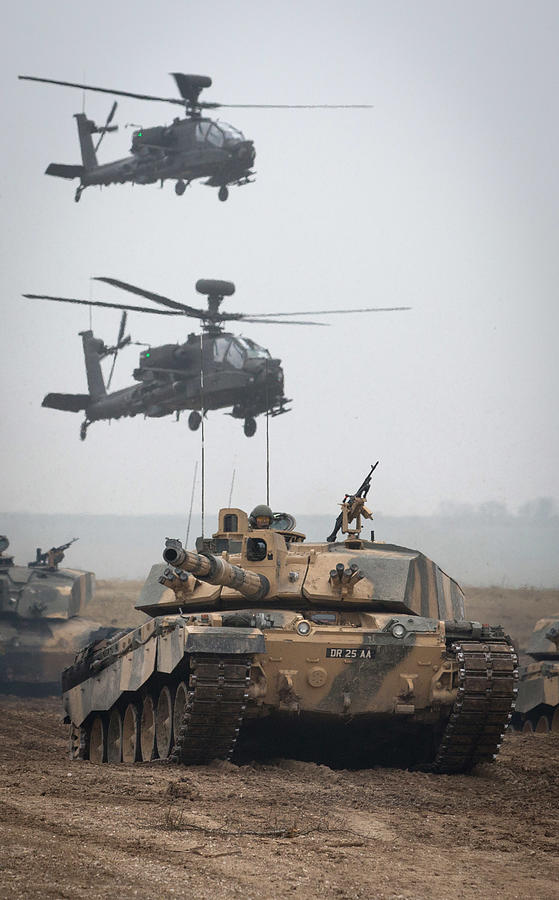 British Army Hold Exercise Tractable On Salisbury Plain Photograph by Matt Cardy