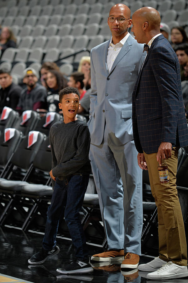 Bruce Bowen and Monty Williams Photograph by Mark Sobhani