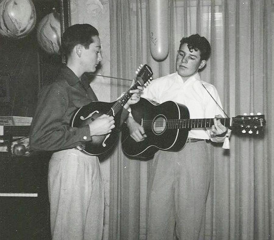 Buddy Holly Photograph - Buddy and Bob by John Bates