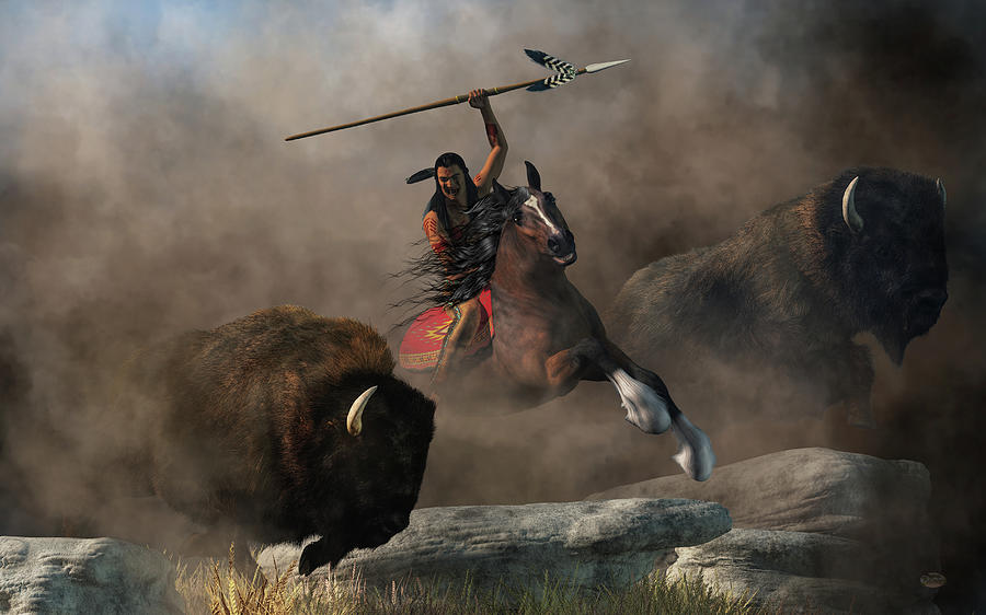 Buffalo Hunt by Daniel Eskridge