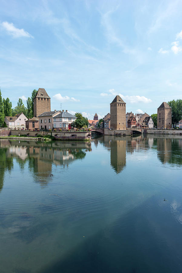 Canal Through The City Of Strasbourg Photograph