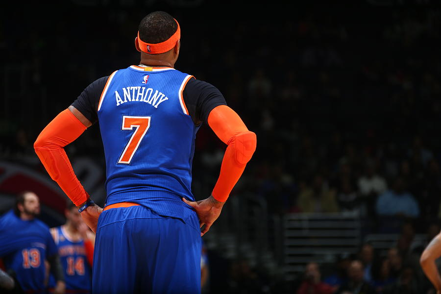 Carmelo Anthony Photograph by Ned Dishman