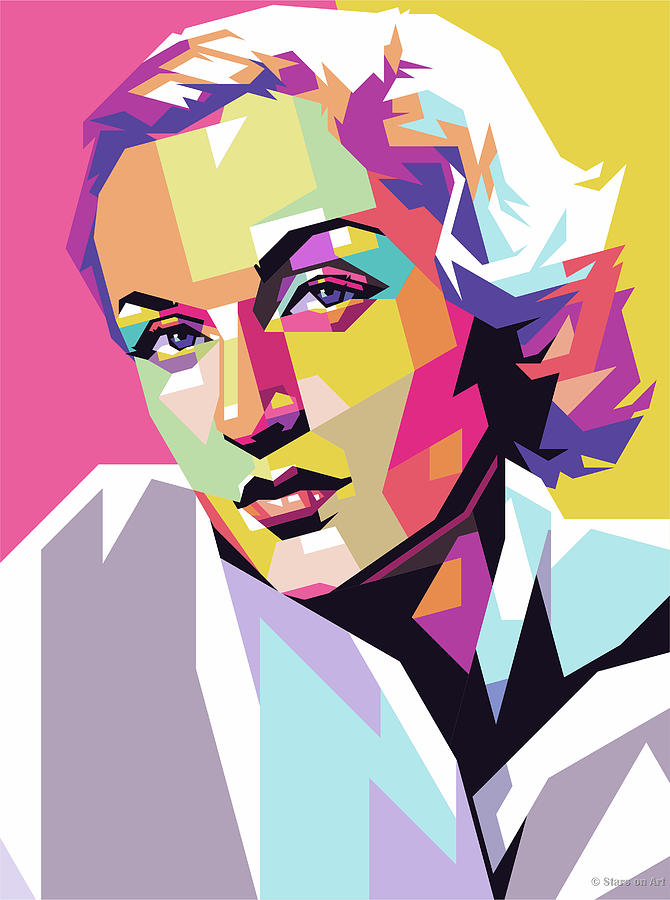 Carole Lombard Digital Art