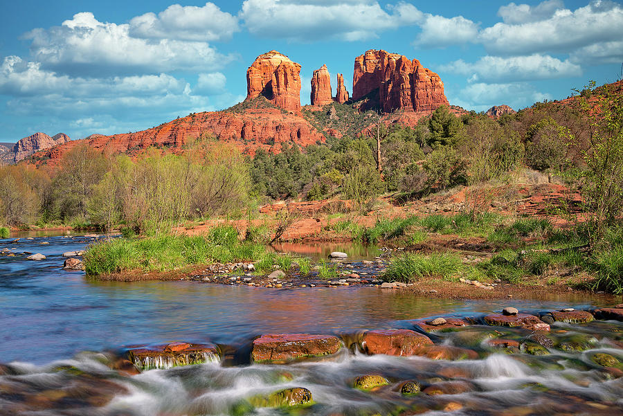 Cathedral Rock Viewed From Red Rock Crossing 1 by Jim Vallee