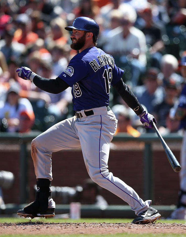 Charlie Blackmon Photograph by Brad Mangin