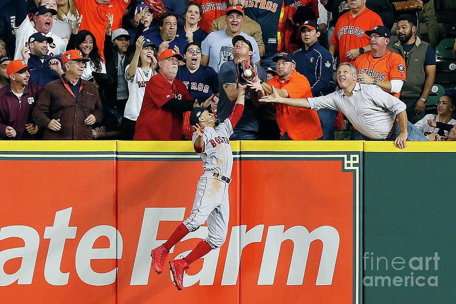 Charlie Morton And Mookie Betts Photograph by Bob Levey