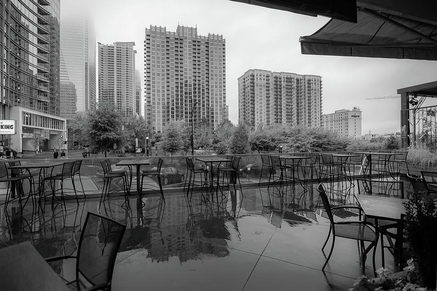 charlotte north carolina skyline on a rainy day by ALEX GRICHENKO