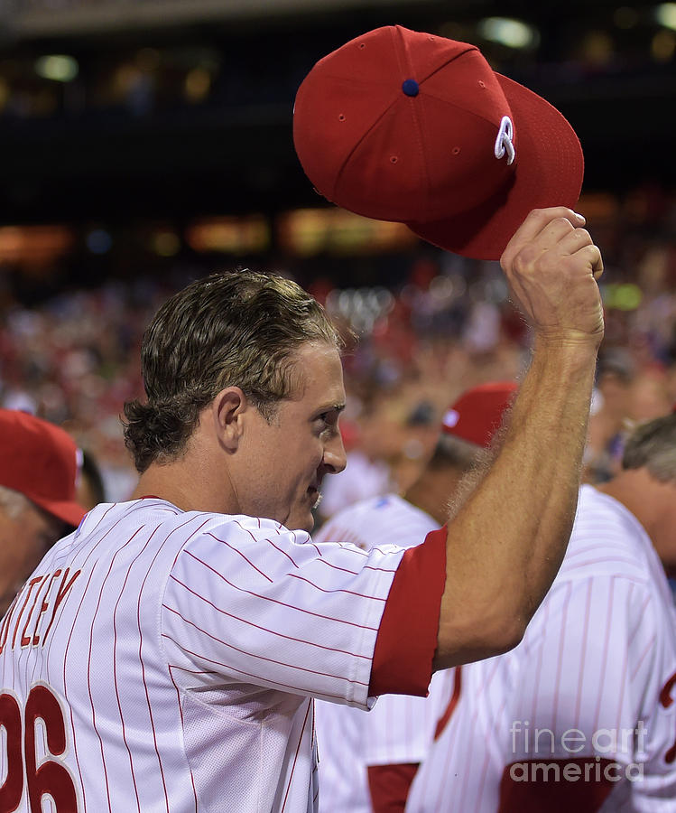 Chase Utley Photograph by Drew Hallowell