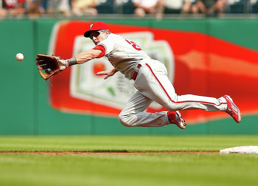 Chase Utley Photograph by Jared Wickerham