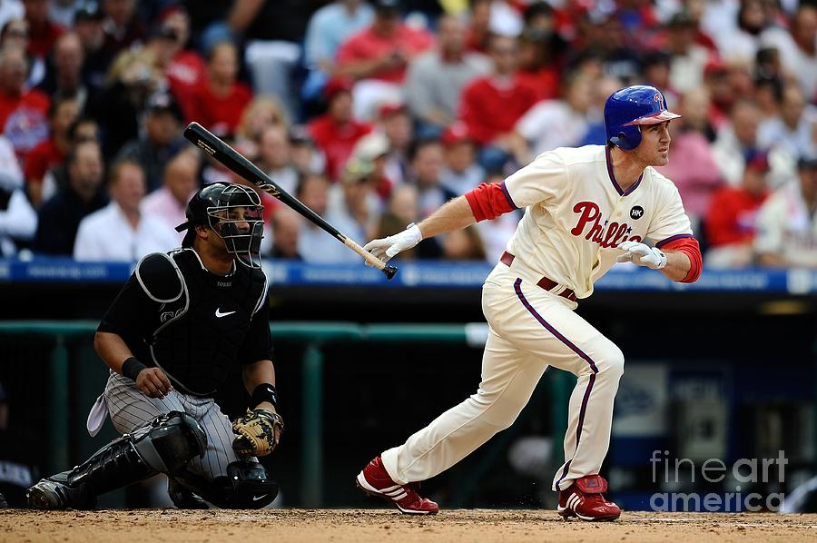 Chase Utley Photograph by Jeff Zelevansky