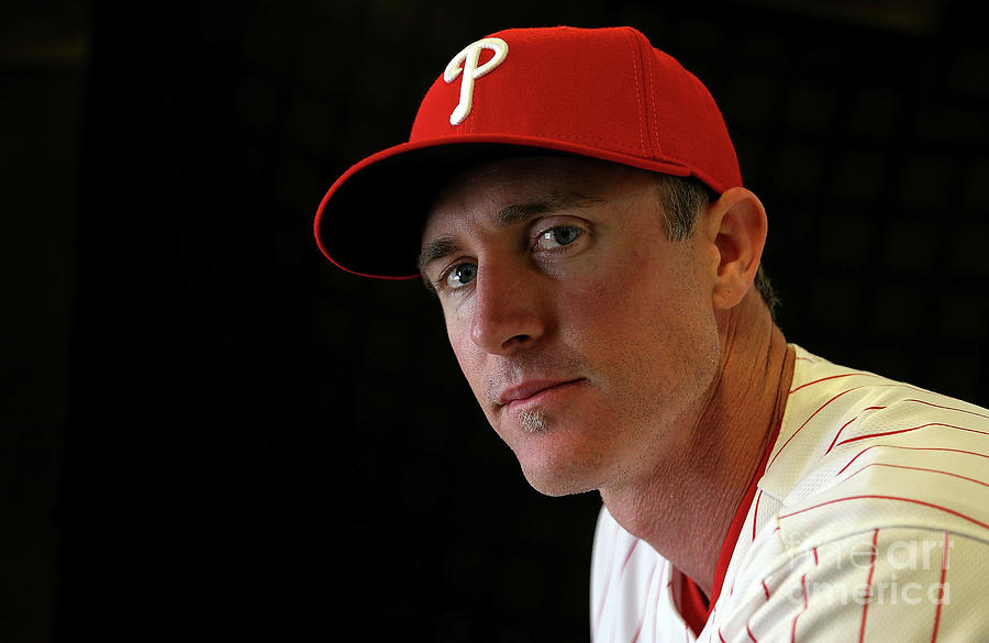 Chase Utley Photograph by Mike Ehrmann