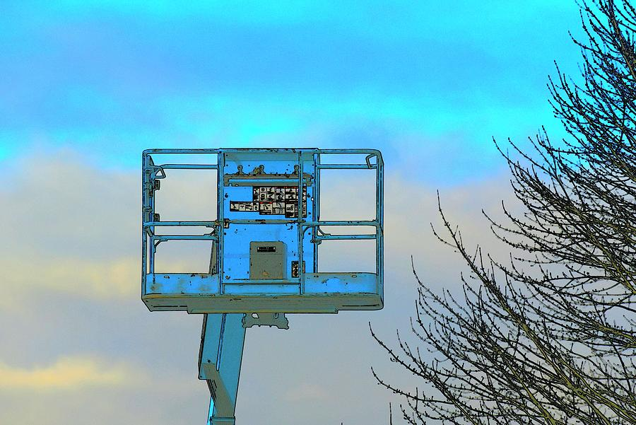 Cherry Picker And Tree Photograph