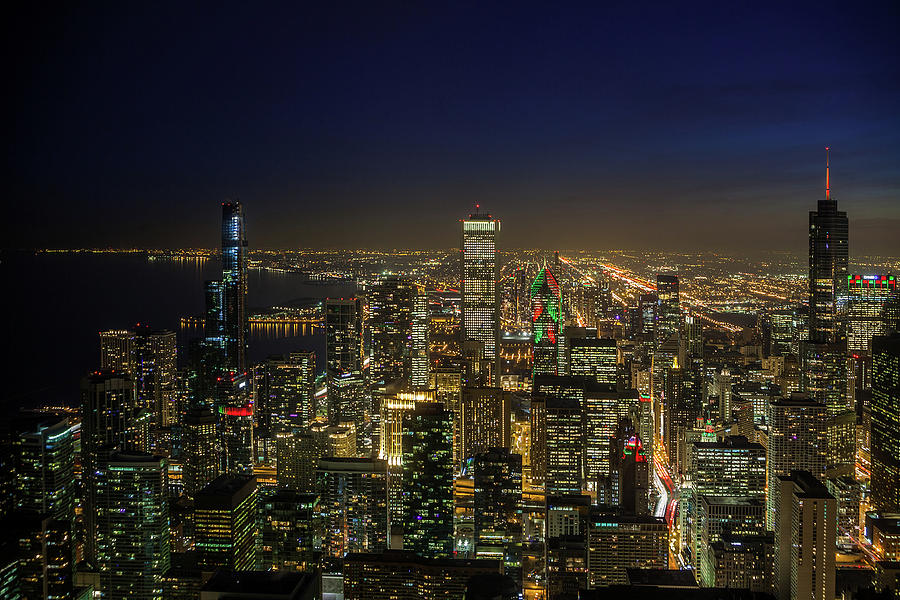 Chicago At Twilight Photograph
